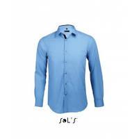 Приталенная рубашка длинный рукав SOL'S BROKER, цвета в ассортименте
