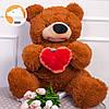 Плюшевый мишка Томми  с сердцем, 70 см, коричневый, фото 3