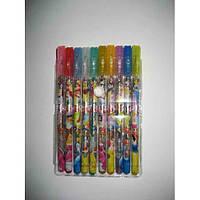 Набір гелевих ручок в блістері 12 кольорів Принцеси з блискітками JO 902-12P