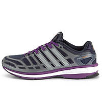 Кроссовки для бега женские adidas Womens Sonic Boost Running Shoes - Dark Grey/Purple D67137 адидас