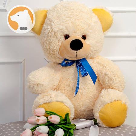 Плюшевый медвежонок Томми, 70 см, кремовый