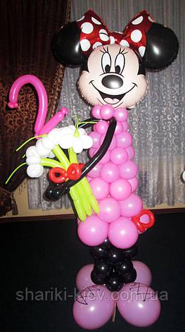 Оформление воздушными шариками в стиле Минни Маус на День рождения. Готовое решение., фото 2