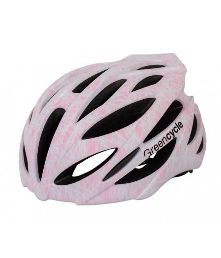 Шлем Green Cycle Alleycat размер 58-61см серо-розовый