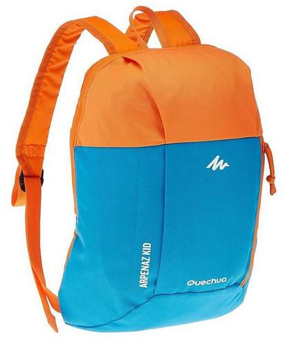 Тканевый городской повседневный рюкзак 6 л. Quechua 2033561 голубой с оранжевым