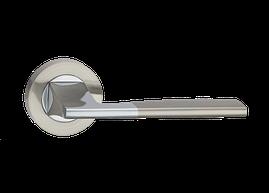 """Дверные ручки LINDE Z-1220 """"SIERA"""" SN/CP - матовый никель/полированный хром"""