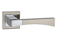 Дверные ручки MVM Z-1257 SN/CP - матовый никель/хром, фото 1