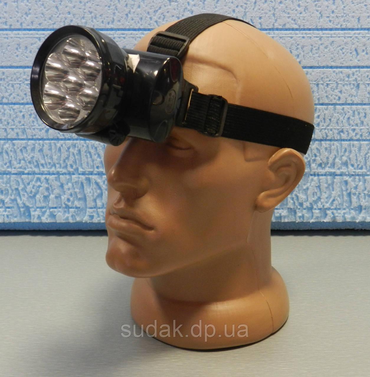 Фонарь аккумуляторный головной  светодиодный 7 LED YJ-1858