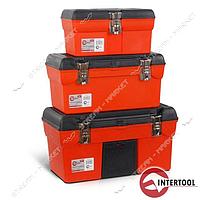 INTERTOOL BX-0006 Комплект ящиков для инструмента с метал.замком 3 шт. (13', 16.5', 19' дюймов)