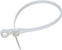 Стяжка хомут пластикавая с кольцом 4х200 (100шт.) белая GAV230