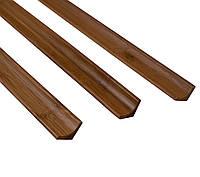 """Бамбуковый молдинг """"угловой внутренний/плинтус"""", темный, фото 1"""