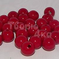 Бусина пластиковая глянцевая 10 мм вишневая