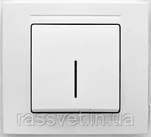 Выключатель одноклавишный с подсветкой белый Gunsan серия MODERNA