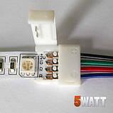 Коннектор для светодиодных лент OEM SC-10-SWC- 10mm RGB joint joint-F wire (зажим-провод-зажим папа), фото 2
