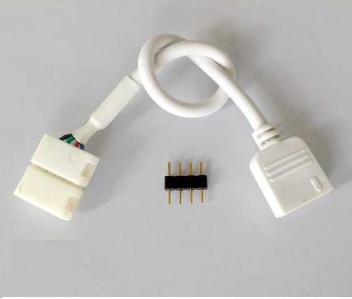 Коннектор для светодиодных лент OEM SC-10-SWC- 10mm RGB joint joint-F wire (зажим-провод-зажим папа)