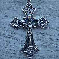Серебряный крест с объемным распятием, 11 грамм, фото 2