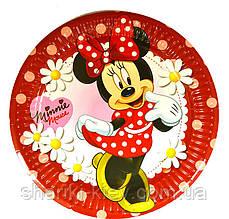 Тарелки Минни Маус 10 шт. бумажные на День рождения в стиле Минни Маус