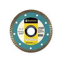 Круг алмазный Turbo Baumesser Universal 125 мм алмазный диск по бетону, кирпичу и тротуарной плитке