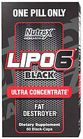 Lipo-6 Black Ultra concentrate Nutrex Research, 60 капсул
