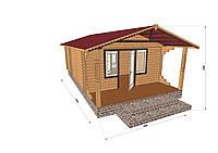 Строительство домов из профилированного бруса с верандой 4.2х7.5, фото 1