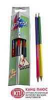 Marсo Карандаши цветные Grip-rite 12/24 цветов, 2-сторонние арт.9101-12СВ