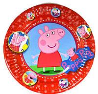 Тарелки Свинка Пеппа 10 шт. бумажные на День рождения в стиле Свинка Пеппа