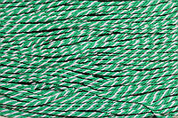 Канат декоративный 3.5мм (100м) зеленый+белый