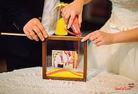 Весільна пісочна цемонія з рамкою з фото