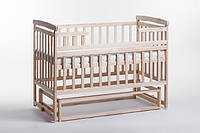 Кроватка детская с маятником без ящика натуральная