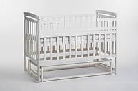 Кроватка детская с маятником без ящика слоновая кость
