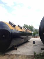 Цистерны снятые с тележек, железнодорожные Б/У -  73, 1 кубических метров, калибр 62, модель 15-1443.толщины :
