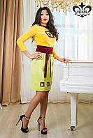 "Женское платье ""Интуиция"" (желтый+зеленое яблоко), фото 1"