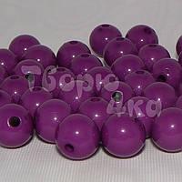 Бусина пластиковая глянцевая 10 мм фиолетовая