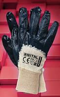 Защитные перчатки,не полное покрытые нитрилом, с вязанным манжетом RNitNL