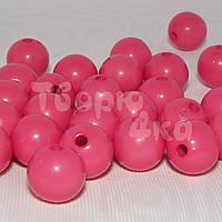 Бусина пластиковая глянцевая 10 мм розовая