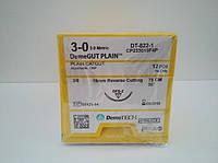 DemeGUT PLAIN Кетгут простой , 3/0, 19 мм обратно-режущая игла 3/8 окружности нить 75 см