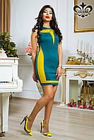 """Женское платье """"Паулина"""" (зел. сапфир+ фисташковый)"""