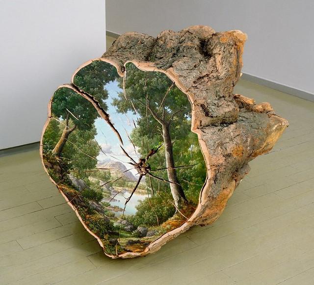 Шедевры на срезе дерева