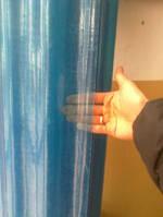 Шифер волновой в рулонах прозрачный голубой
