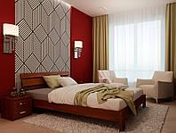 Ліжко двоспальне з натурального дерева в спальню Лагуна (бук)160*200 Неомеблі, фото 1
