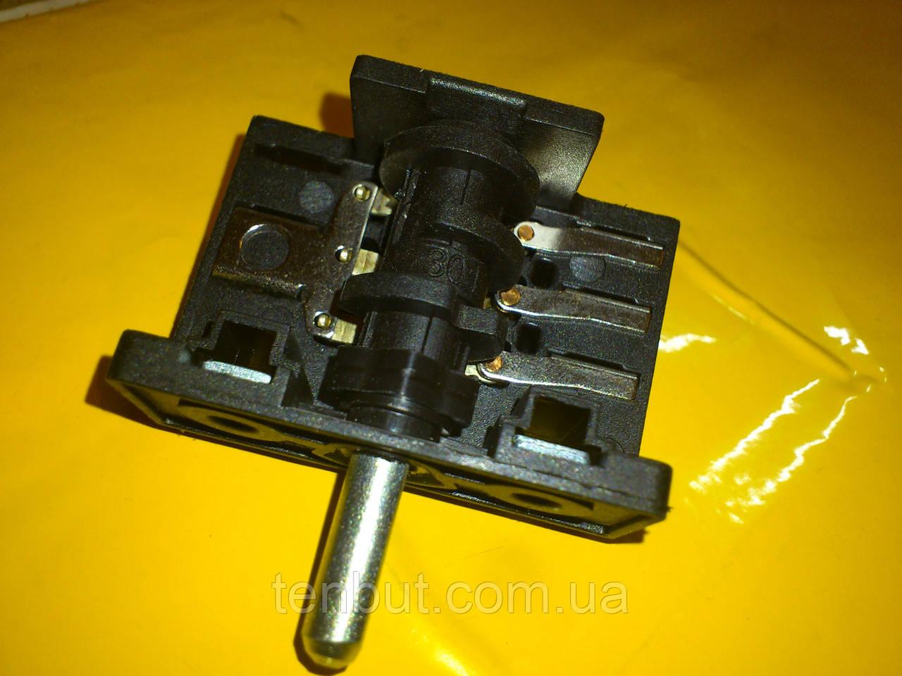 Переключатель для электродуховок АС 301 клемы вниз производство Турция