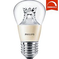 Светодиодная LED лампа Philips MAS LEDlustre DT 6-40W E27 P48 CL, диммируемая