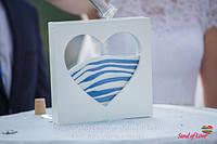 Набор для песочной церемонии с рамочкой сердцем