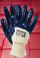 Защитные перчатки, покрытые нитрилом, с мягким манжетом RNITNS