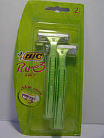 Станок женский одноразовый для бритья (Бик 3 Пюр Леди) BiC Pure 3 Lady 2 шт. Оригинал