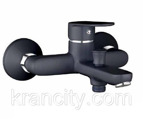 LASKA однорычажный cмеситель для ванной, черный, IMPRESE 10040B,кран в ванную+ПОДАРОК