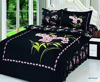 Комплект постельного белья  le vele сатин размер полуторный buket BLACK