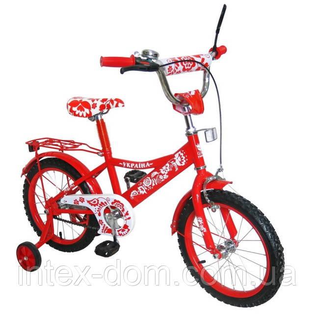 Велосипед двухколесный 14 дюймов 151412 со звонком зеркалом