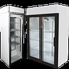 Холодильный шкаф стекло, двери-купе
