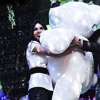 Плюшевый  мягкий медведь Бублик 120 см