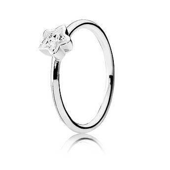Кольцо «Сияние звезд» из серебра 925 пробы